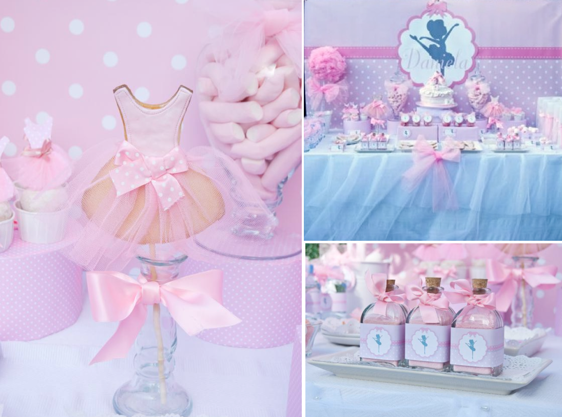 Pink ballerina dance ballet girl 4th birthday party for Ballerina decoration