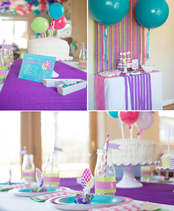 Kara 39 s party ideas balloon pop themed 2nd birthday party for 2nd birthday decoration ideas