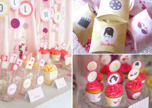 Chick Flick Movie Night Hollywood Glam Girls Night Party via Kara's Party Ideas karaspartyideas.com #girls #night #movie #hollywood #party #ideas