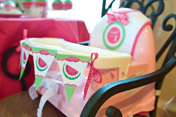 Kara S Party Ideas Watermelon Fruit Summer Girl 1st