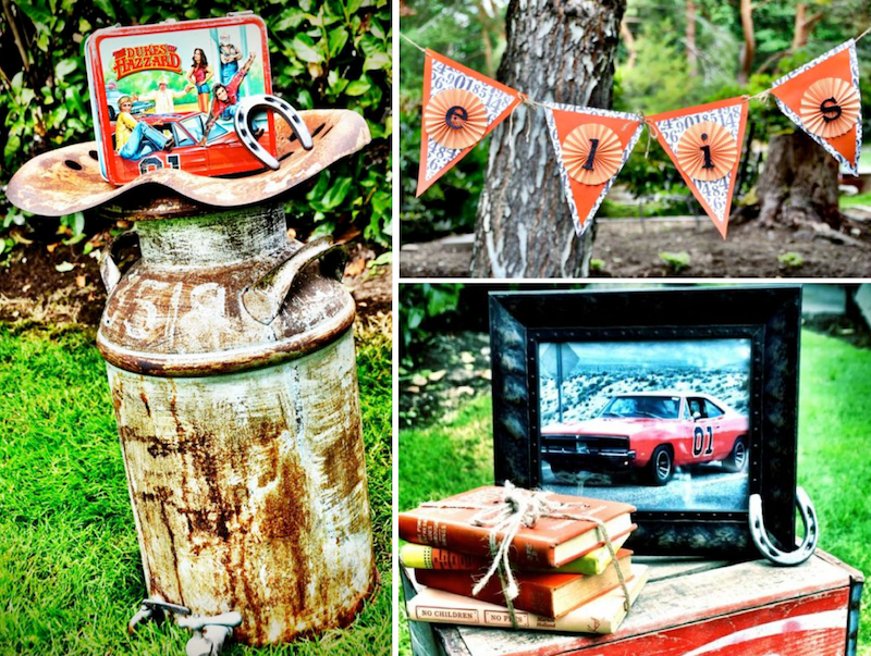 Karas Party Ideas Dukes Of Hazzard Vintage Car Farm Birthday Planning