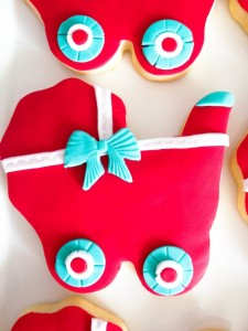 Gender neutral aqua & red baby carriage shower via Kara's Party Ideas karaspartyideas.com #gender #neutral #baby #shower #ideas-19