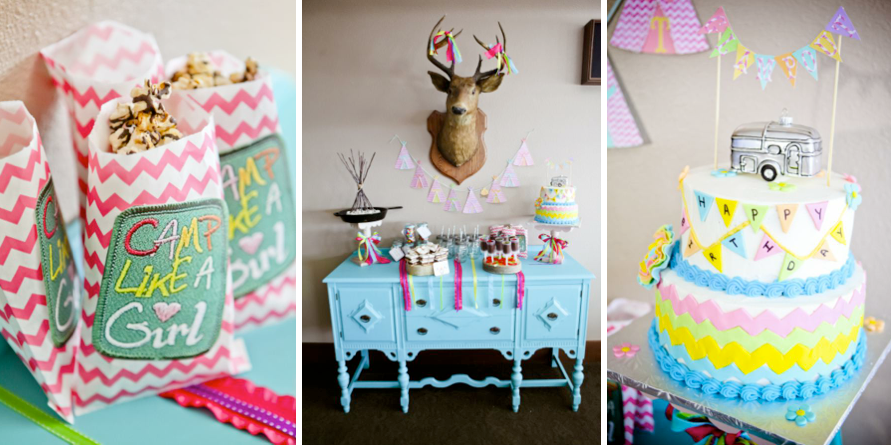 Karas Party Ideas Glampout Girl Camping Glamping Birthday