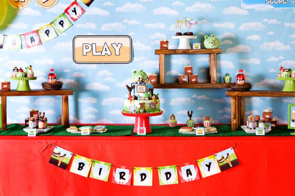 Karas party ideas angry birds boy video game birthday party angry birds birthday party filmwisefo Choice Image