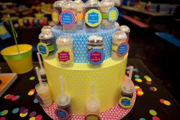 Karas Party Ideas Neon Roller Skate Disco Teen Tween 11th Birthday