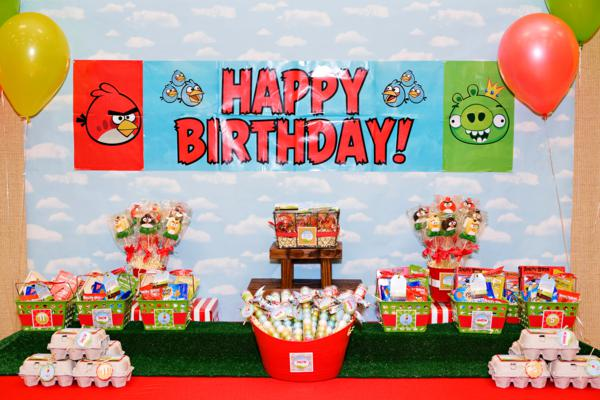 Karas Party Ideas Angry Birds Birthday Party