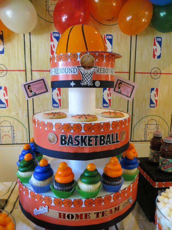 Karas Party Ideas Slam Dunk Basketball Sports Boy 4th Birthday