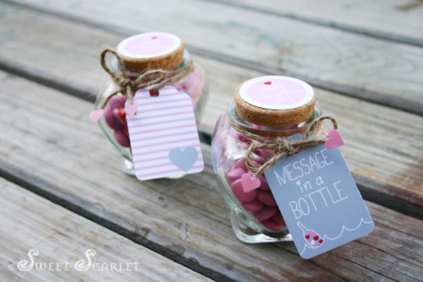 Kara S Party Ideas Message In A Bottle Nautical Valentine