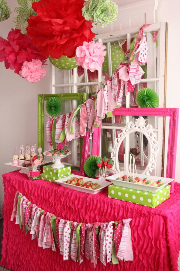 Kara's Party Ideas Strawberry 1st Birthday Party | Kara's ...