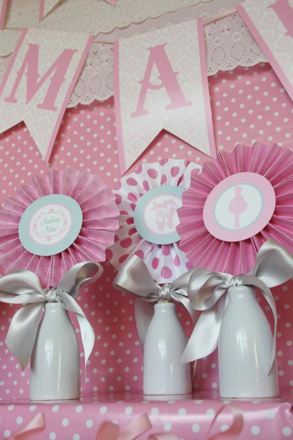 you celebrate your first little baby girl you splash pink decorations