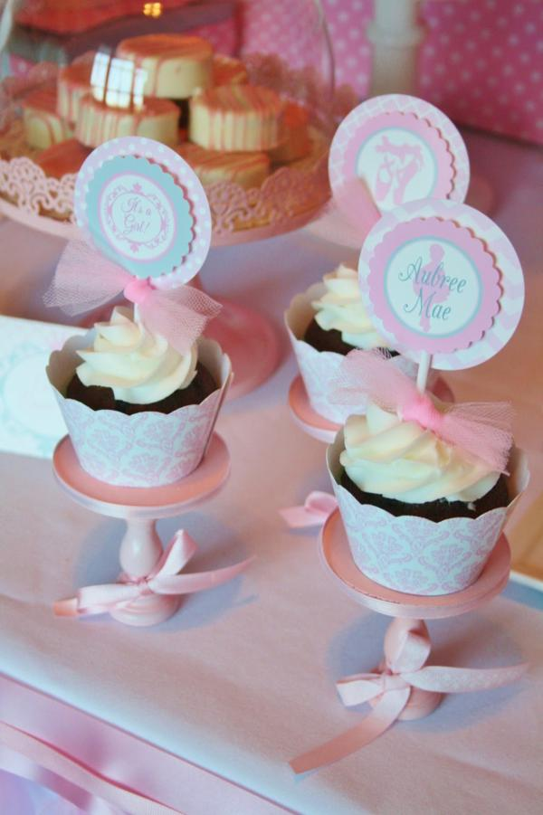 pink ballerina themed baby shower