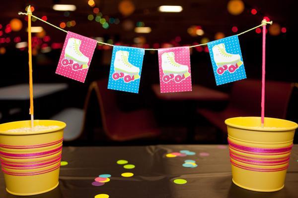Kara S Party Ideas Neon Roller Skate Disco Teen Tween 11th