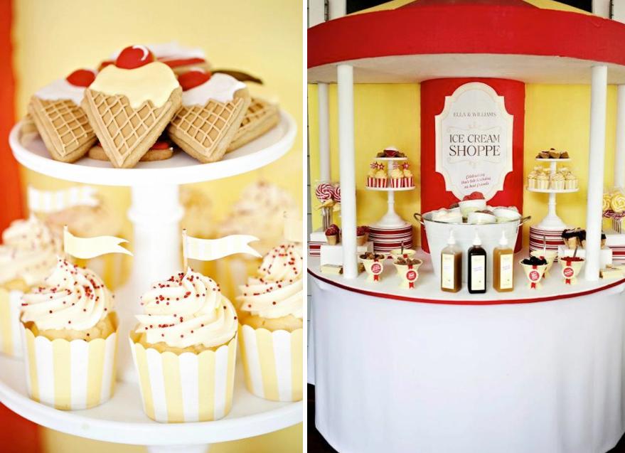 Karas Party Ideas Boy Girl Ice Cream Themed 6th Birthday Party