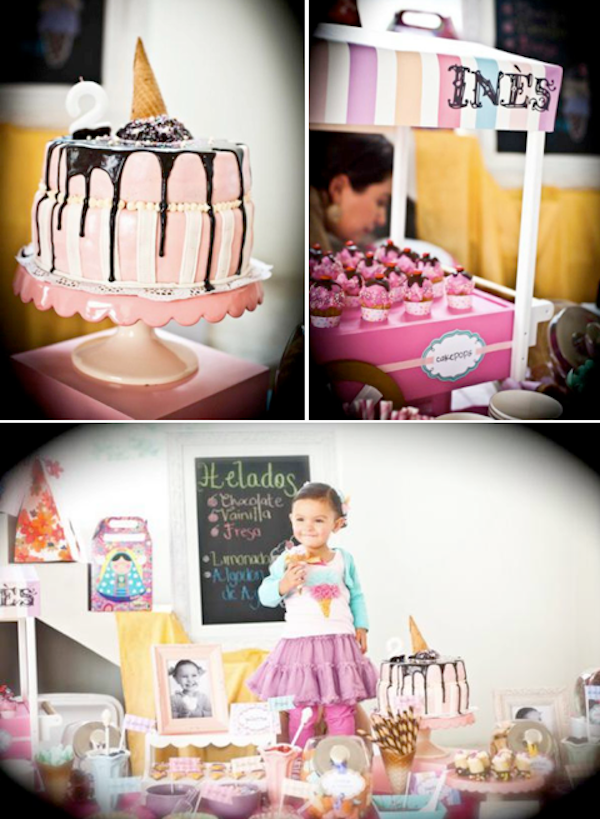 Ice Cream Themed 2nd Birthday Party