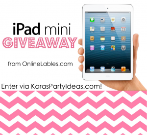 Ipad mini Giveaway via Kara's Party Ideas karaspartyideas.com #ipad #mini #giveaway