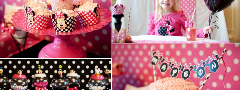 Minnie Mouse Birthday Party via Kara's Party Ideas karaspartyideas.com #minniemouse #minnie #mouse #party #ideas #cake