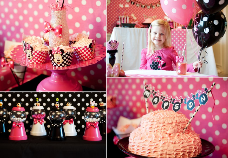 Karas Party Ideas Disney Minnie Mouse Girl 5th Birthday Party