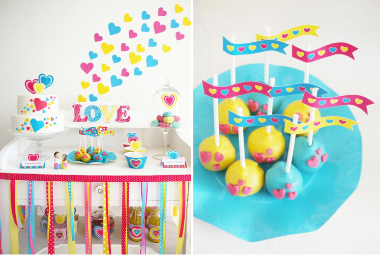 kara's party ideas modern colorful bright boy girl valentine's day, Ideas
