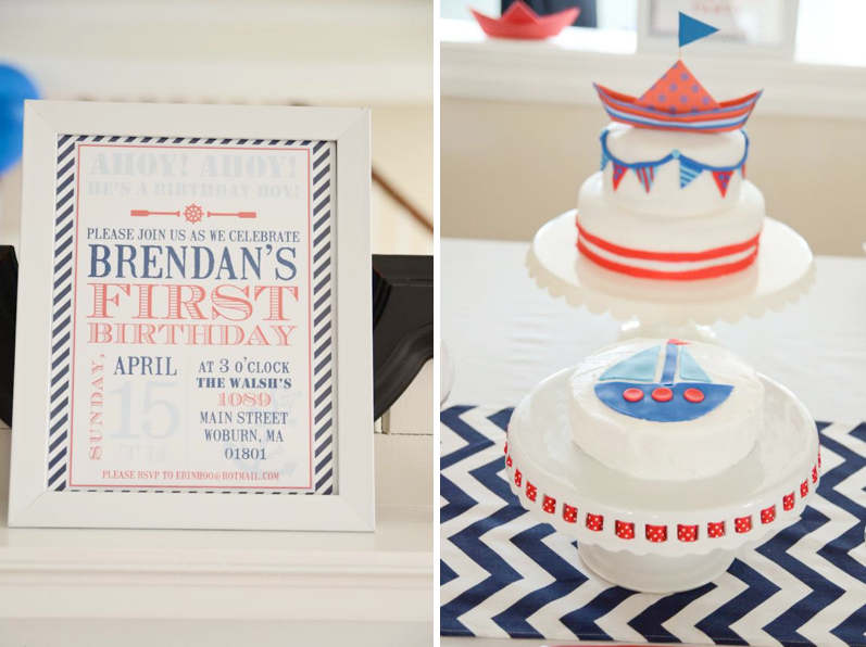 Karas Party Ideas Nautical Sailor Boat Boy 1st Birthday Planning