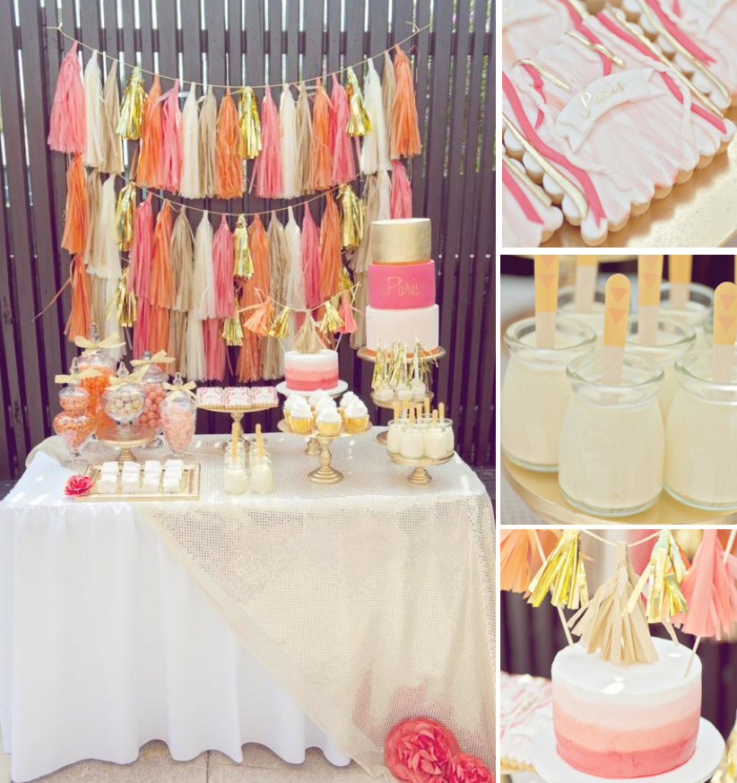 Karas Party Ideas Orange Pink Gold Vibrant Girl1st Birthday Planning