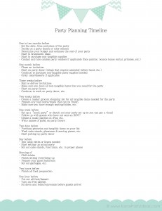 Party Timeline KarasPartyIdeas-1.com