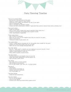 Party Timeline KarasPartyIdeas.com
