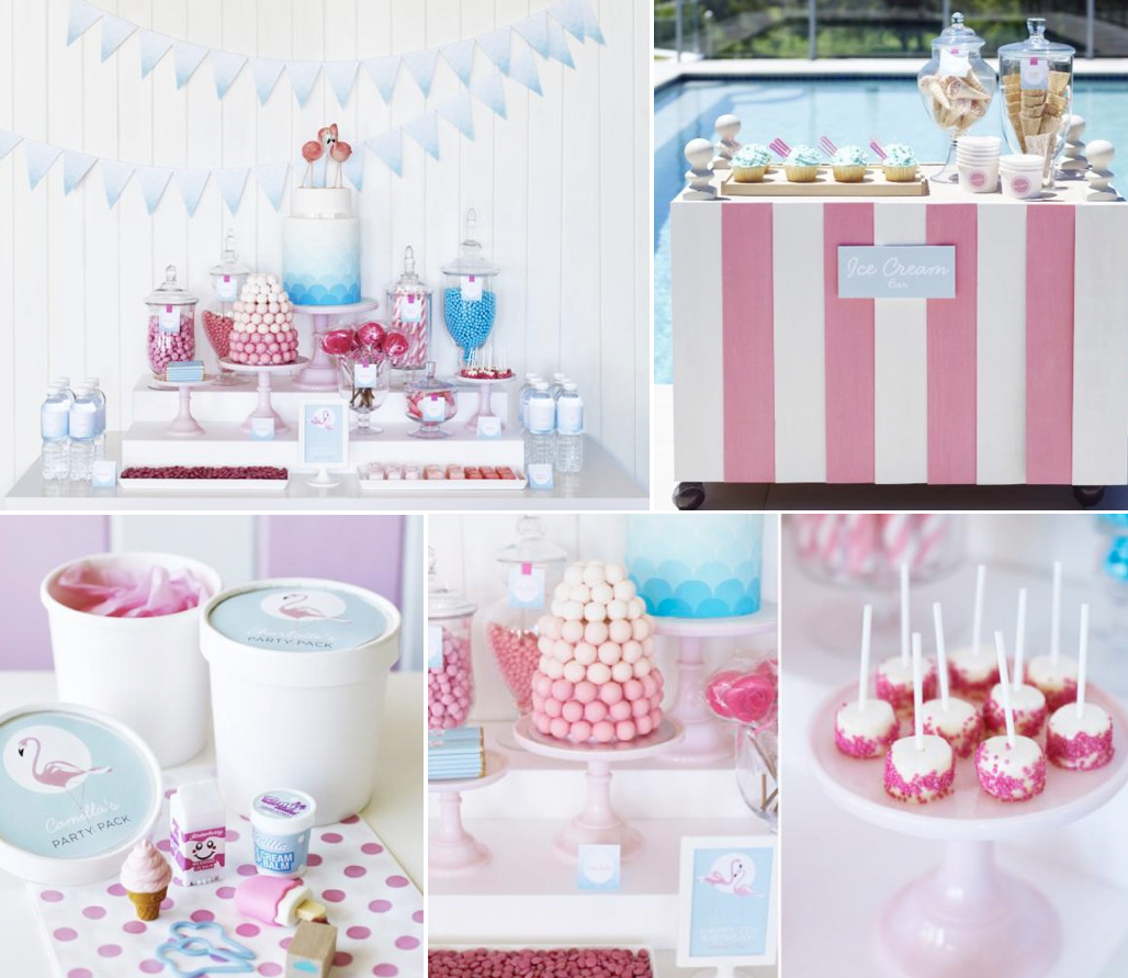 Kara S Party Ideas Retro Pink Flamingo