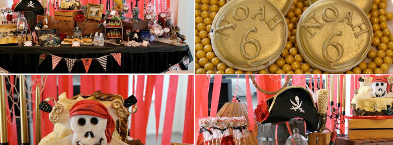 Pirates ahoy themed birthday party via Kara's Party Ideas karaspartyideas.com #pirate #birthday #party #ideas