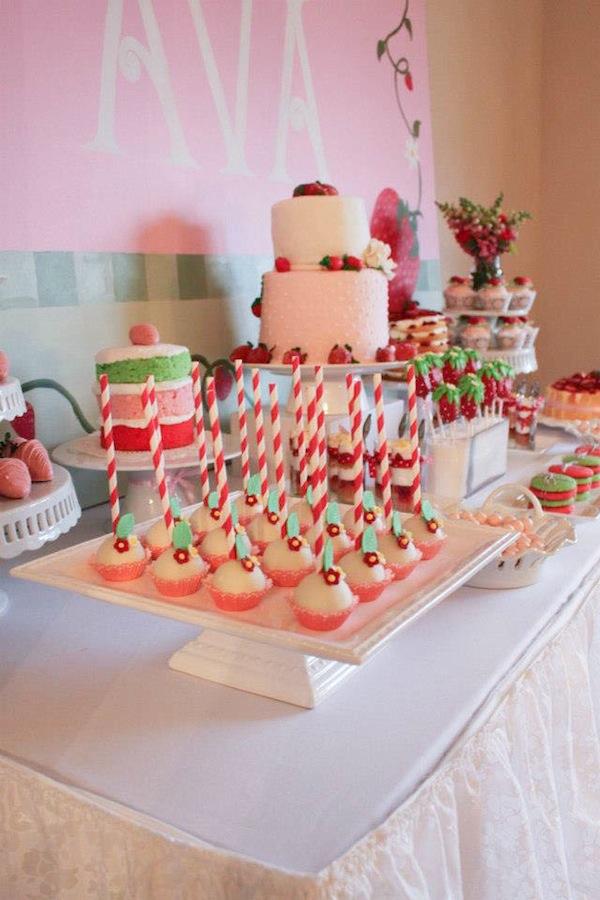 Karas Party Ideas Strawberry Shortcake Girl 2nd Birthday Party