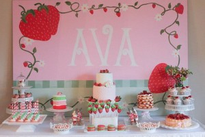 Strawberry Shortcake Birthday Party via Kara's Party Ideas karaspartyideas.com #strawberry #shortcake #party #ideas-12