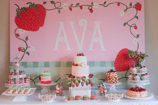 Karas Party Ideas Strawberry Shortcake Girl 2nd Birthday Party 4LMcmGUA