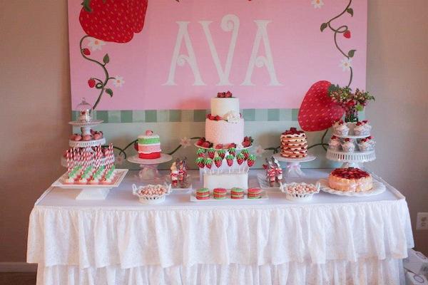 Kara 39 s party ideas strawberry shortcake girl 2nd birthday for 2nd birthday party decoration ideas