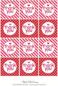 Sweet Shoppe Valentine's Free Tags : Toppers via Kara's Party Ideas karaspartyideas.com