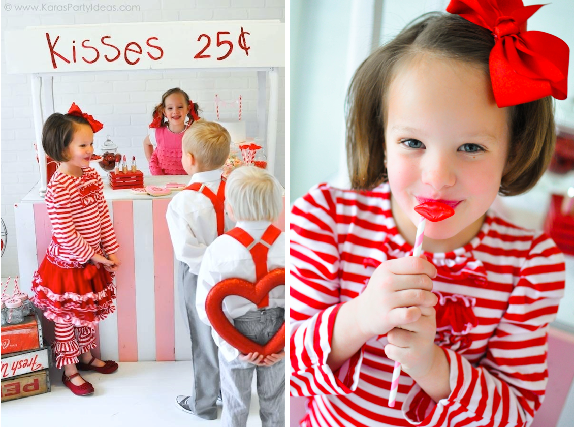 Kara's Party Ideas Valentine's Day Party | Kissing Booth | via ...