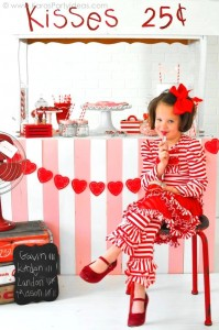 Valentine's party kissing booth via Kara's Party Ideas karaspartyideas.com-107