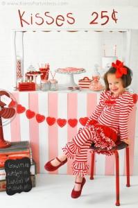 Valentine's party kissing booth via Kara's Party Ideas karaspartyideas.com-112