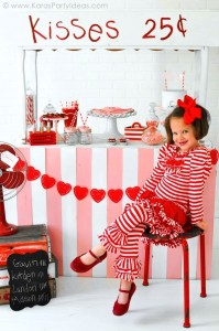 Valentine's party kissing booth via Kara's Party Ideas karaspartyideas.com-112