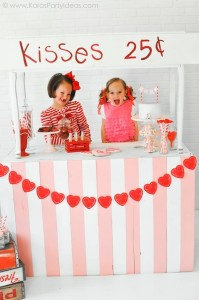 Valentine's party kissing booth via Kara's Party Ideas karaspartyideas.com-123