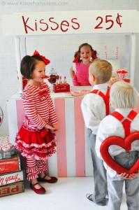 Valentine's party kissing booth via Kara's Party Ideas karaspartyideas.com-13
