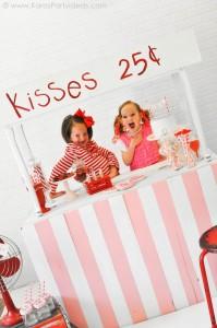 Valentine's party kissing booth via Kara's Party Ideas karaspartyideas.com-139