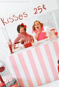 Valentine's party kissing booth via Kara's Party Ideas karaspartyideas.com-139