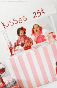 Valentine's party kissing booth via Kara's Party Ideas karaspartyideas.com-139a