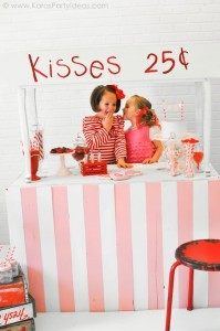 Valentine's party kissing booth via Kara's Party Ideas karaspartyideas.com-143