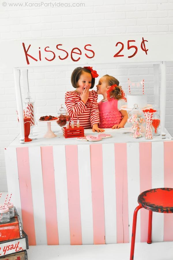 Kara S Party Ideas Valentine S Kissing Booth Party Via