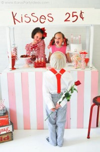 Valentine's party kissing booth via Kara's Party Ideas karaspartyideas.com-152