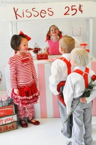 Valentine's party kissing booth via Kara's Party Ideas karaspartyideas.com-3