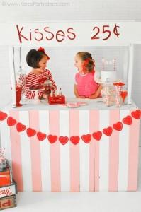 Valentine's party kissing booth via Kara's Party Ideas karaspartyideas.com-300