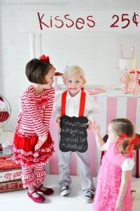 Valentine's party kissing booth via Kara's Party Ideas karaspartyideas.com-301