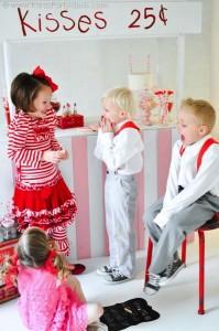 Valentine's party kissing booth via Kara's Party Ideas karaspartyideas.com-36