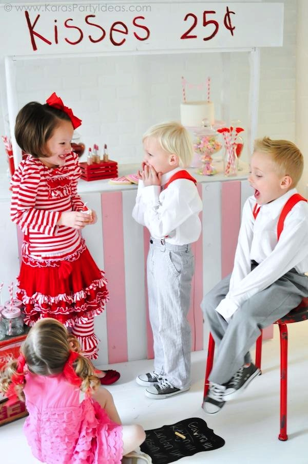 Valentine's party kissing booth via Kara's Party Ideas karaspartyideas.com-36